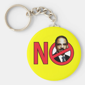 No Eric Holder Basic Round Button Key Ring