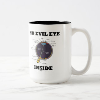 No Evil Eye Inside (Anatomical Eyeball Humor) Coffee Mugs