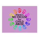 No Excuse for Child Abuse Postcard