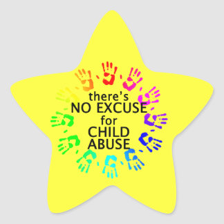 No Excuse for Child Abuse Star Sticker