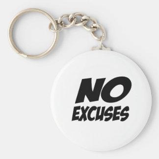 No Excuses! Basic Round Button Key Ring