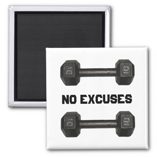 No Excuses Dumbbell Magnet