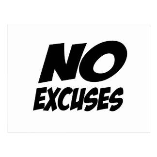 No Excuses! Postcard
