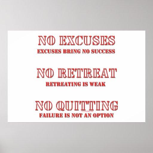 No Excuses. Print