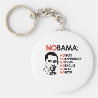 NO EXPERIENCE, NOBAMA BASIC ROUND BUTTON KEY RING
