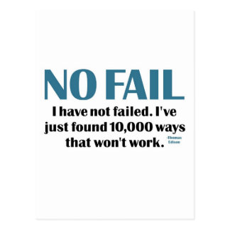 No Fail Postcard
