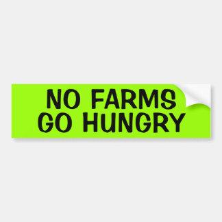 NO FARMS: GO HUNGRY BUMPER STICKERS