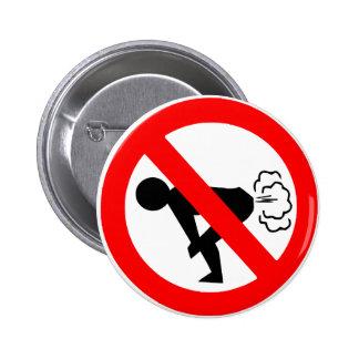 No Fart Zone 6 Cm Round Badge