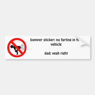 no farting bumper sticker