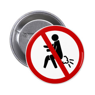 NO Farting ⚠ Funny Thai Toilet Sign ⚠ 6 Cm Round Badge