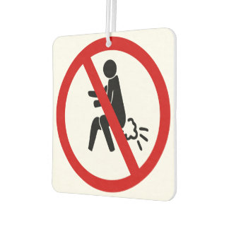 NO Farting ⚠ Funny Thai Toilet Sign ⚠ Car Air Freshener