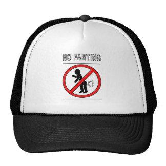 NO FARTING Warning Sign Cap