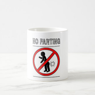 NO FARTING Warning Sign Coffee Mug