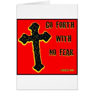 No Fear Greeting Card