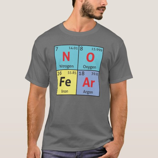 'No Fear' mens comedy science t-shirt