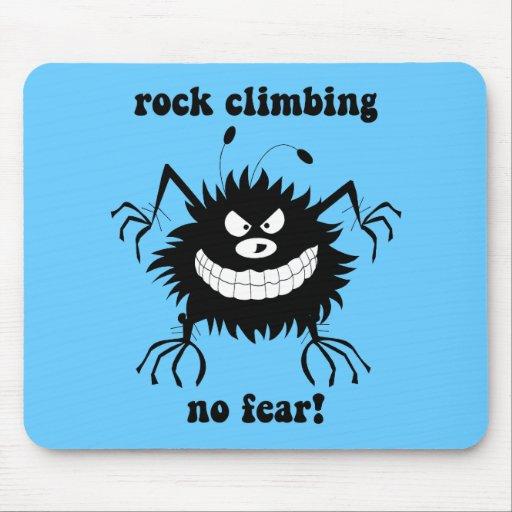 no fear rock climbing mouse pad