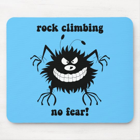 no fear rock climbing mouse pad