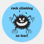 no fear rock climbing round sticker