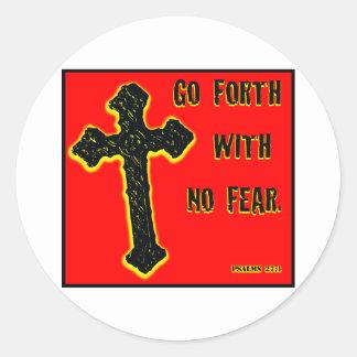 No Fear Round Sticker