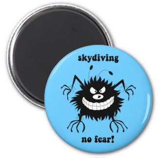 no fear skydiving 6 cm round magnet