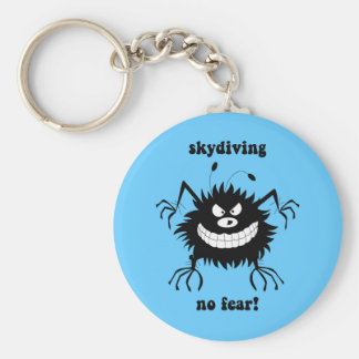 no fear skydiving keychain
