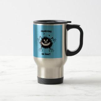 no fear skydiving travel mug