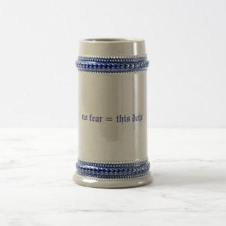 no fear = this dojo stein (blue/white) beer steins