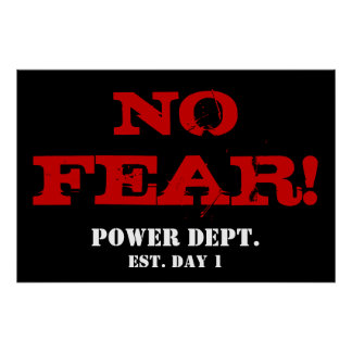 NO FEAR! Weightlifting Motivational Gym Poster