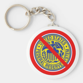 No Federal Reserve End The Fed Basic Round Button Key Ring