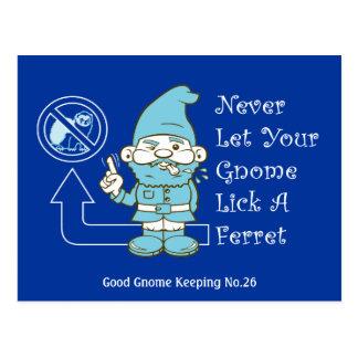 No Ferrets For Gnomes Postcard