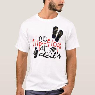 No flip-flops at Cecil's T-Shirt