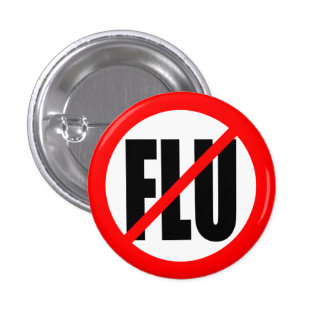 """NO FLU"" 3 CM ROUND BADGE"