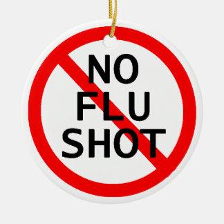 No Flu Shot Christmas Tree Ornaments