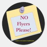 NO Flyers Please Sticker