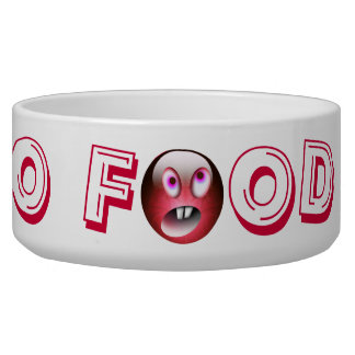 NO FOOD !! red Your Pet Bowl