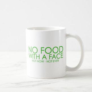 No food with a face basic white mug