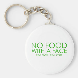 No food with a face keychains