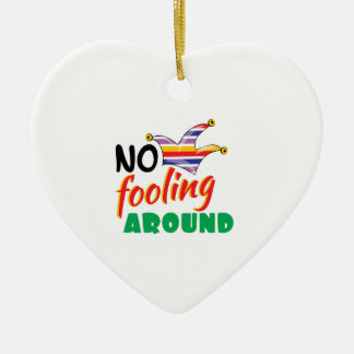 No Fooling Ceramic Heart Decoration