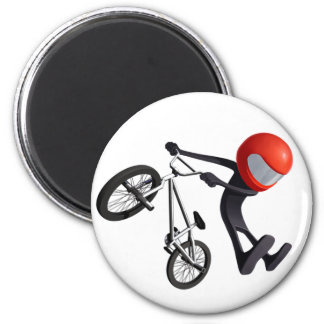 No Footed Can Can - Pocket BMX 6 Cm Round Magnet