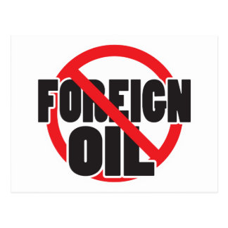 No Foreign Oil Postcard