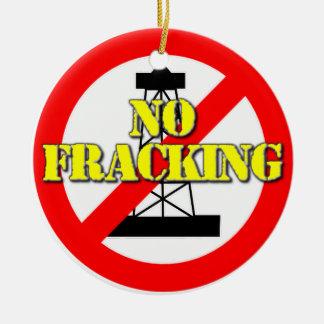 No Fracking UK 2 Christmas Ornament