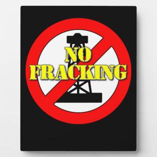 No Fracking UK 2 Plaque