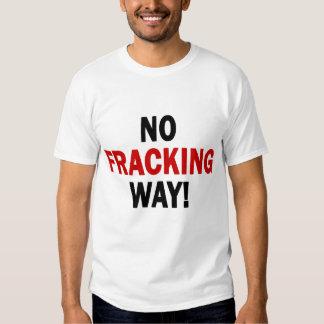 NO FRACKING WAY! Men's Light T T Shirts
