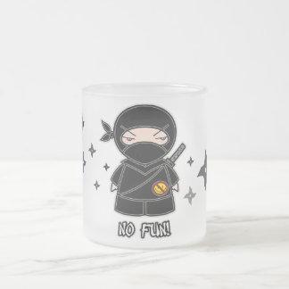 No Fun Ninja With Shurikens Mug