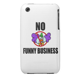 No Funny Business Case-Mate iPhone 3 Cases