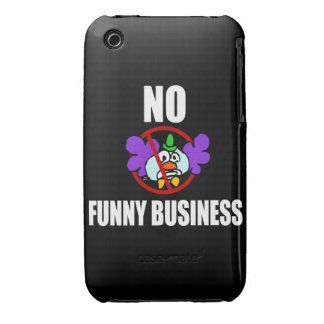No Funny Business iPhone 3 Case