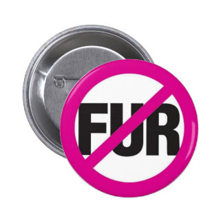 NO FUR 6 CM ROUND BADGE
