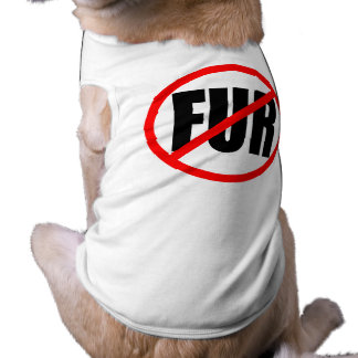 """NO FUR"" SLEEVELESS DOG SHIRT"