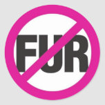 NO FUR! STICKER