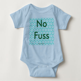 No Fuss    Luke 12:22 blue Baby Bodysuit